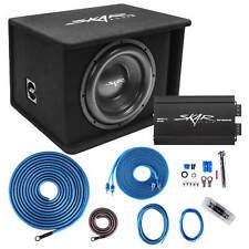 "SKAR AUDIO SINGLE 12"" 1200 WATT COMPLETE SDR SERIES LOADED SUB BOX AND AMPLIFIER"