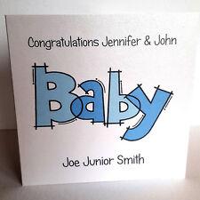 Personalised Baby Boy / Girl Birth Card New Baby Congratulations
