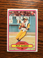 1980 Topps #445 Pat Haden Football Card Los Angeles LA Rams Raw