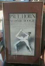 PAUL HORN FRIENDS CELESTIAL FLUTE COSMIC BOOGIE 1974  POSTER iconic L.A. FREE
