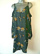 Peacocks Multicolour Tropical Palm Leaf Maxi Shirt Dress size 12 Holiday Summer