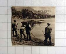 1937 River Tay Salmon Fishermen Drawing In The Nets For The Last Time in Season