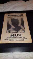 2001 A Space Odyssey Rare Original Box Office Promo Poster Ad Framed!