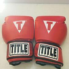 Title Boxing Gloves - 15.4oz - Black/White/Red