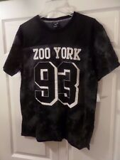 ZOO YORK 93 Camouflage/Mesh Jersey T-shirt Black/White 2XL/XXL NWT MSRP $30