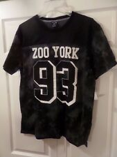 ZOO YORK 93 Camouflage/Mesh Jersey T-shirt Black/White 2XL/XXL NWT MSRP $30