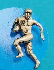 Charm I124 Football Player Sterling Silver Vintage Bracelet