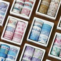 10 Rolls/Pack Washi Tape Decor Scrapbooking Paper Adhesive Sticker Craft Gift