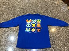 Pokemon Pikachu Long-Sleeve T-Shirt Size Small, Very Good used condition