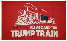 3x5 Ft Trump 2020 All Board the Trump Train President Donald MAGA Flag US RED