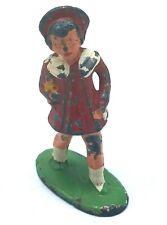 Antique Manoil Barclay Métal Figurine École Fille Rouge Robe Avec Poupée