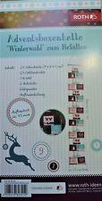 🎅 XXL Advent Deko Adventskalender zum Befüllen Adventsboxenkette Winterwald NEU