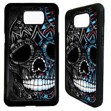 Sugar skull aztec tattoo case cover for Samsung Galaxy S7 S8 S9 s10 s10e plus