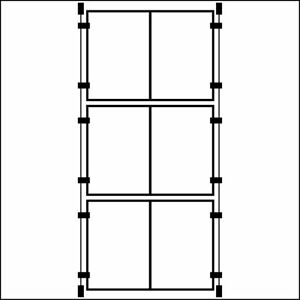 3 x Double A4 Wire Cable Kit Acrylic Poster Holders Window Display Estate Agent