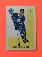 Bert Olmstead 1959-60 Parkhurst Hockey Card #40 Toronto Maple Leafs