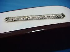 14K GOLD ANTIQUE FILIGREE BAR-BROOCH 1920'S, 3.2 GRAMS, 2.4 INCHES LONG