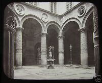 GWW Glass Magic Lantern Slide COURT PALAZZO VECCHIO FLORENCE C1890 ITALY