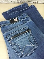 Peoples Liberation Alexia Utility Boot Cut Jeans Womens 28 (31 x 35.5) Distress