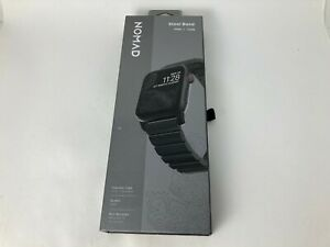 Nomad Stainless Steel Band Strap for Apple Watch 6 5 4 SE 44mm 3 2 42mm Black