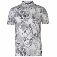 Mens Firetrap Printed Polo Slim Fit Shirt Short Sleeve New