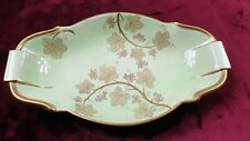 CARLTON WARE ROUGE ROYALE PLATE DISH GILT Floral Green STICKERED