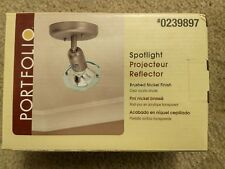 Portfoli Brushed Nickel Ceiling Spotlight Projecteur Reflector Uses PAR-20 Bulb