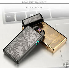 Cool USB Rechargeable Plasma Pulse Electronic Lighters Double Arc Lighter