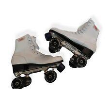 ROLLER DERBY Women's White Leather Roller Skates Sz 8