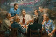True Blues by Andy Thomas Democrat, Presidents, Print 18x12
