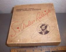 vintage Sir Walter Raleigh Tobacco Box, Cool logo, sample box (empty), unique