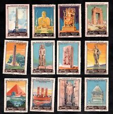 Monuments of Antiquity Cailler Chocs 1920 Swiss Stamp Card Set Egypt Rhodes Pari