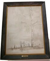 Vintage John McDaniel Wet Birch 1966 Art Acrylic Painting Signed #2 Series 5