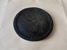 OLD ANTIQUE PRIMITIVE WOODEN BOWL ROUND PLATE