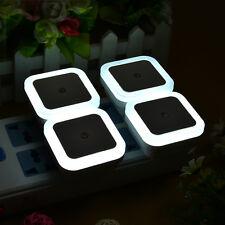 4 pcs Auto White LED Light Sensor Control Bedroom Hallway Night Lights Bed Lamp