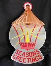 Kitschy Retro Vintage Die-Cut Christmas Honeycomb Lanterns-Original Box-12