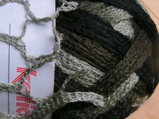 "Katia ""TRIANA"" Ruffle Knitting Yarn  #43 Brown, Black & Gray"