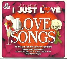 I JUST LOVE LOVE SONGS 3 CD BOX SET CAROLE KING ETTA JAMES PEGGY LEE & MORE