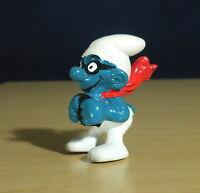 Smurfs Airplane Super Smurf 40222 Pilot Vintage Figure Schleich PVC Toy Schlumpf