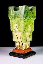 ART DECO MYOTT & SONS HAND PAINTED CASTLE VASE Circa 1930