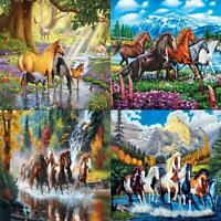 5D DIY Full Drill Diamond Painting Horse Cross Stitch Mosaic Craft Kit Wall Art