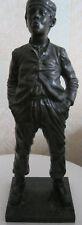 Ancienne Statue célèbre bronze le siffleur de Halfdan Hertzberg 33 cm - 3 kg