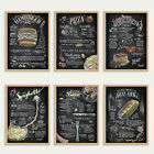 Unframed Black Canvas Print Food Wall Art Pizza Cake Painting Restaurant Decor