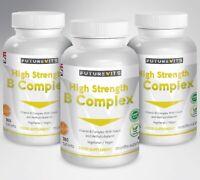 Complejo de Vitamina B 3 Botellas Contiene Todos los 8 Uno Tableta Futurevits
