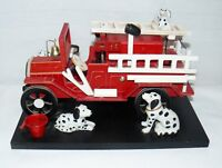 Berkley Designs Fire Engine Music Box w/ Dalmations Smoke Gets In Your Eyes