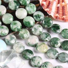 Grün Spot Jaspis Edelsteine Münze lose Perlen 10x5mm f. Halskette Armband DIY