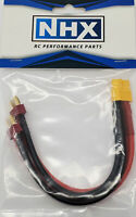"""NHX XT60 Female to 2 Deans Male Parallel 12 AWG 6"""" Silicone Wire Harness"""