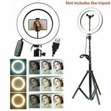 """10"""" LED Ring Lamp Light Selfie Camera Phone Studio Tripod Stand Video Dimmable"""