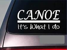 Canoe sticker decal *E275* kayaking oar boat trailer lake bikini water oars