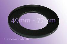 Retencion 49mm A 77mm 49mm-77mm Stepping intensificar filtro anillo adaptador