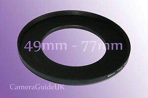 49mm auf 77mm Stecker-Buchse Stepping Step Up Filter Ring Adapter 49mm-77mm